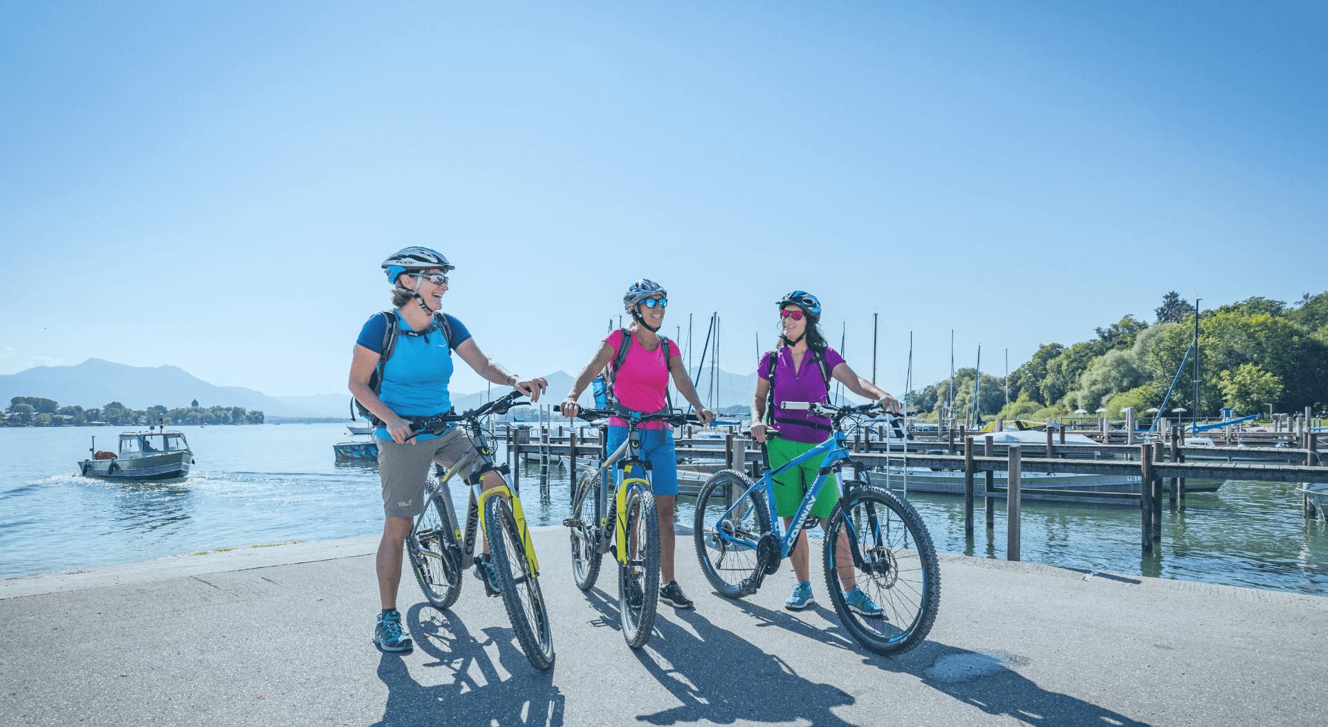 Fahrradverleih Chiemsee Header